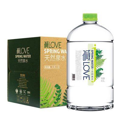 碱LOVE 维维股份天然弱碱性饮用水矿泉水4.5L*4整箱装