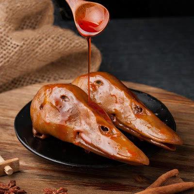 好吃佬鸭霸王 香辣鸭头 休闲卤味小吃零食一个(可超辣)