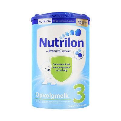 【耘凡兔013】荷兰版Nutrilon诺优能荷兰牛栏3段奶粉新鲜奶源800g克*2罐10-12个月