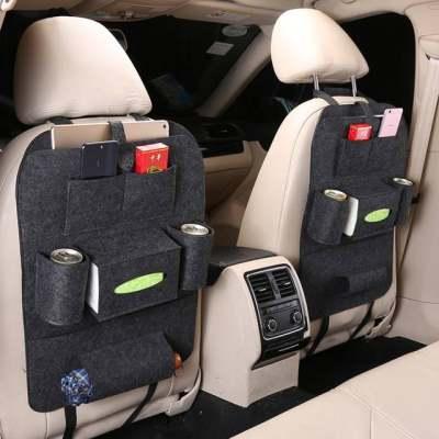 汽车座椅收纳袋挂袋车用椅背置物袋汽车用品多功能车载储物收纳箱【正品】