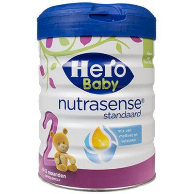 【耘凡兔013】荷兰Hero Baby白金版原装进口婴幼儿配方牛奶粉2段800g *2罐