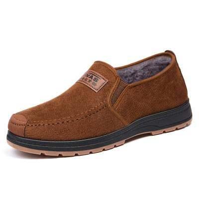 老北京布鞋男棉鞋冬季新款爸爸鞋中老年加厚保暖休闲男鞋加绒棉靴【优品】