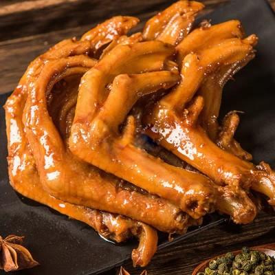 现做现卖的好吃佬鸭霸王 香辣鸭爪 休闲卤味小吃零食150g(可超辣)