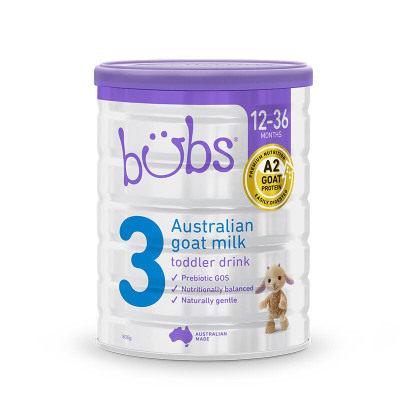 【耘凡兔013】澳洲bubs羊奶粉贝儿婴儿羊奶粉3段幼儿宝宝配方羊奶粉800g*2罐