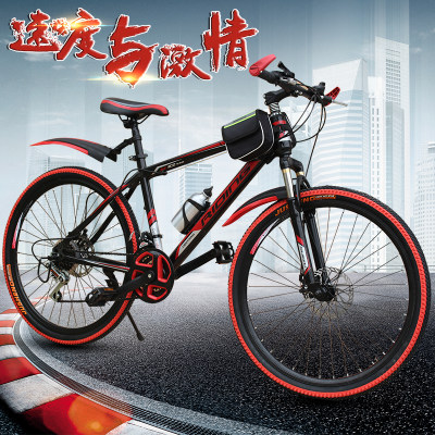 新款成人20寸22寸24寸26寸山地车学生变速车减震自行车男女孩赛车