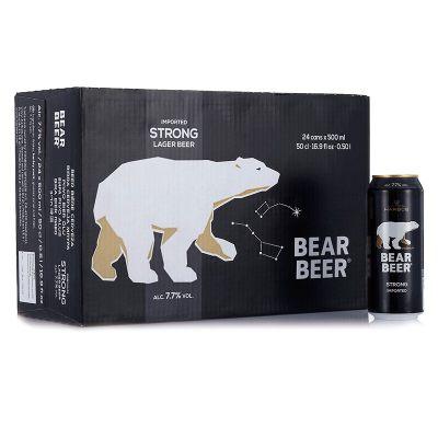 德国进口豪铂熊(Harboe)豪铂熊烈性啤酒500ml*24