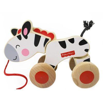 费雪 Fisher Price 益智玩具 木质拖拉斑马