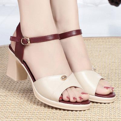 金亚欣 2020新款 真皮时尚精品手工凉鞋平底鞋舒适休闲百搭 女士凉鞋