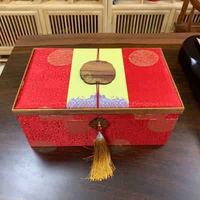 金骏眉红茶礼盒装双罐陶瓷 聚天禾蜜香型红茶 中国红实木盒300g