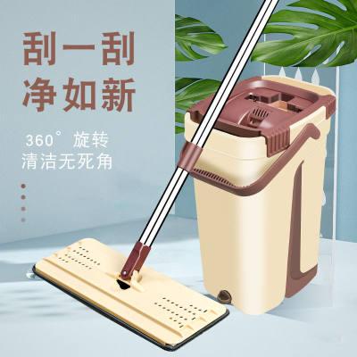 拖把家用免手洗平板干湿两用网红懒人拖布旋转海绵吸水刮刮乐墩布