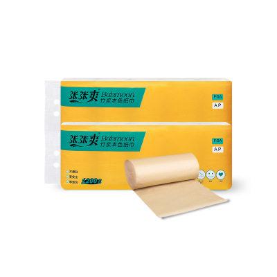 【耘凡兔351】张张爽40卷大号竹浆本色卷筒纸厕纸家用卫生纸巾