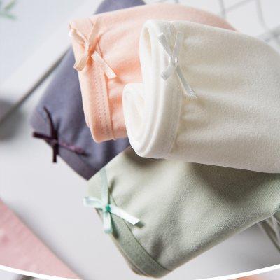 【耘凡兔843】少女士内裤5条装女纯色棉质底裆中腰透气无痕少女日系女士薄款三角女式内裤 混色