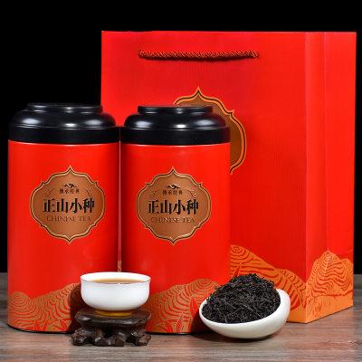 聚天禾福建正山小种红茶铁罐装花香型小种金骏眉红茶500g赠手提袋