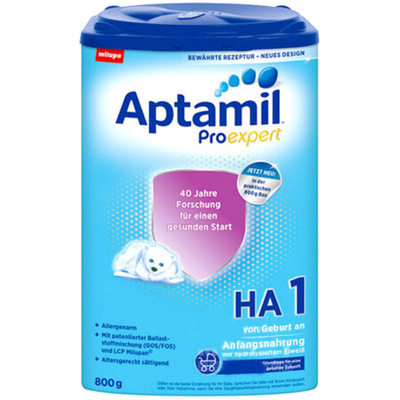 【耘凡兔013】德国Aptamil爱他美适度半水解抗防过敏免低敏婴儿奶粉1段800克*2罐