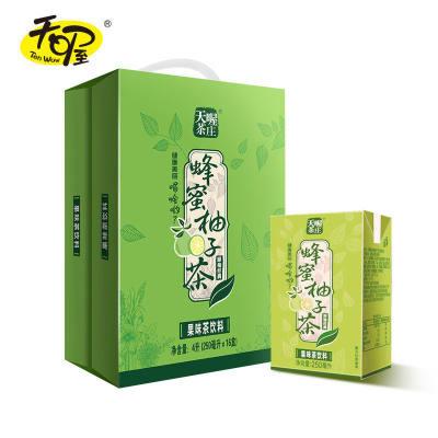 【天喔】蜂蜜柚子茶250ml*16盒 酸梅汤苹果汁蜜桃汁夏季果味饮料