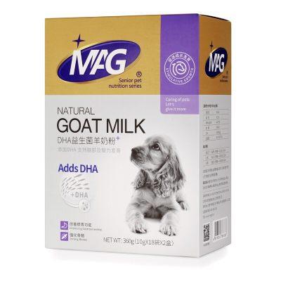 英国MAG益生菌DHA羊奶粉10g*36袋 宠物幼犬新生犬猫