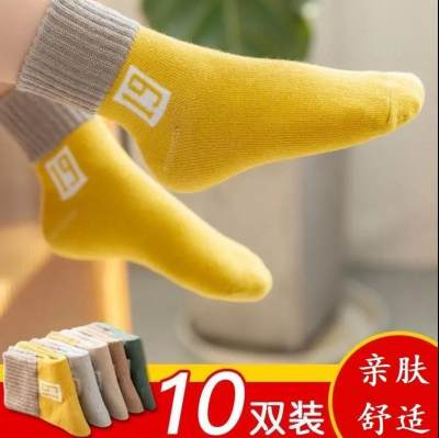春秋冬儿童袜子厚款保暖学生孩子男童女童中大童婴儿宝宝中筒袜子