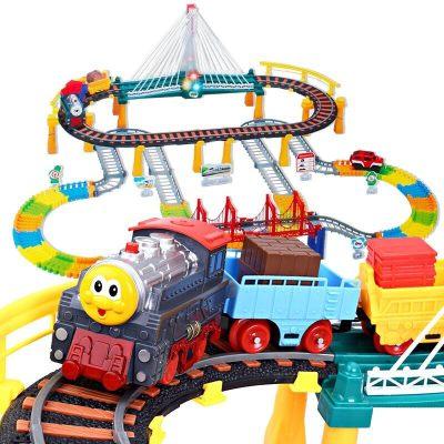 益米 儿童玩具男孩拖马斯轨道车玩具车小火车头套装 赛车轨道