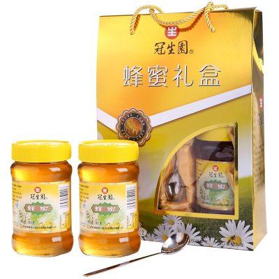 冠生园 蜂蜜礼盒1520g 年货 伴手礼 玻璃瓶装 冲饮即食