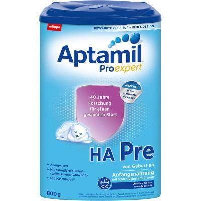 【耘凡兔013】德国Aptamil爱他美适度半水解抗防过敏免低敏婴儿奶粉PRE段800克*2罐
