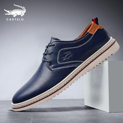 卡帝乐鳄鱼休闲皮鞋男士春季英伦软底工作商务正装鞋子分销授权