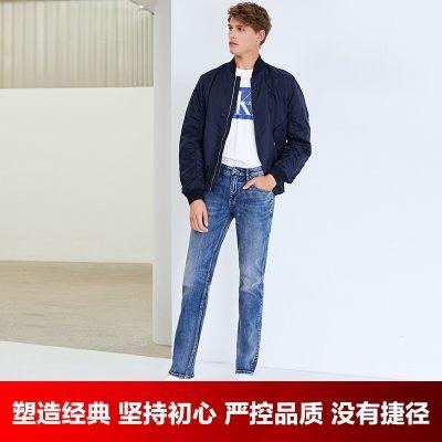 INTERIGHT牛仔裤男 经典欧式五袋款 合体修身牛仔裤