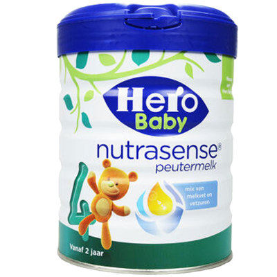 【耘凡兔013】荷兰Hero Baby白金版原装进口婴幼儿配方牛奶粉4段700g *2罐
