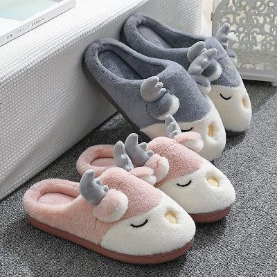 【耘凡兔1023】ASIFN卡通棉拖鞋女冬季2020室内家居家用可爱冬天情侣保暖毛绒棉拖