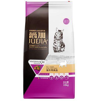 爵加 猫粮 宠物主粮成猫幼猫通用型 天然粮10kg