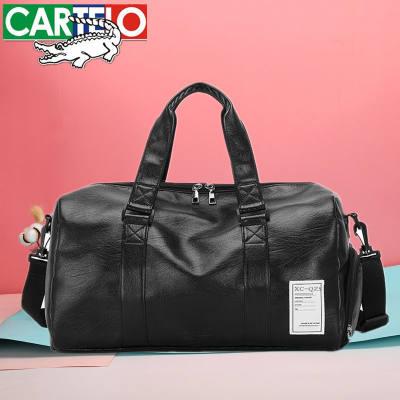 【品牌】【卡帝乐鳄鱼】短途旅行包男手提包女大容量旅游包行李包袋健身包
