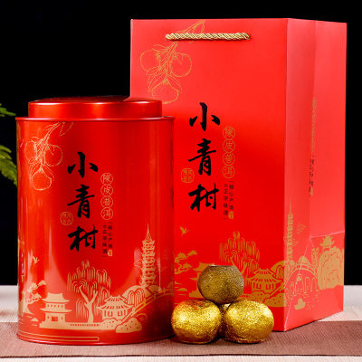 聚天禾小青柑普茶铁罐装 新会宫廷小青柑普洱茶 500g 赠手提袋