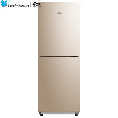 小天鹅Little Swan176升双门小冰箱节能静音阳光米