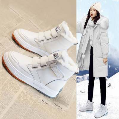 雪地靴女真皮2020年新款冬季女鞋加绒加厚马丁靴保暖皮毛一体棉鞋【正品】