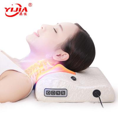 颈椎按摩器按摩仪颈部肩部电动多功能按摩枕头家用全身按摩护颈靠【正品】