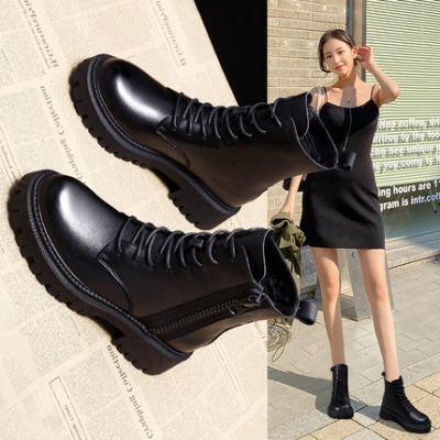 马丁靴子2020年新款女鞋子秋冬季加绒雪地棉鞋百搭爆款英伦风短靴【正品】