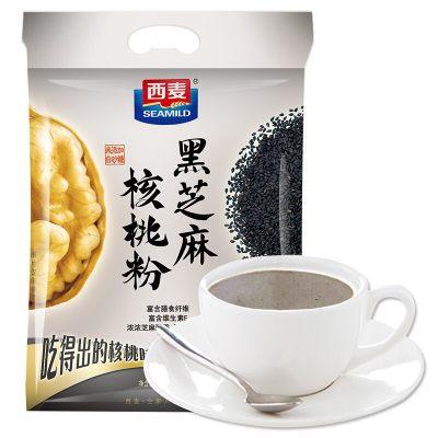 西麦 黑芝麻核桃粉 即食早餐 五谷代餐核桃粉600g**包装