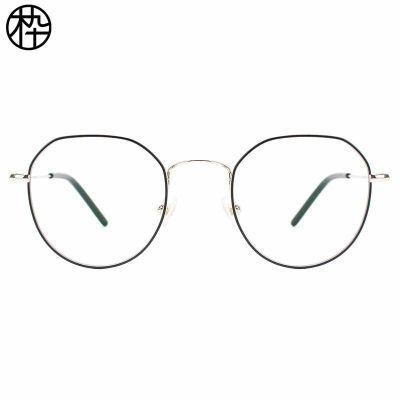 木九十 多边形眼镜框 时尚大框近视眼镜 金属轻便男女款电脑镜