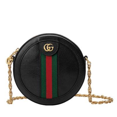 Gucci 爆款绿红绿织带小圆饼