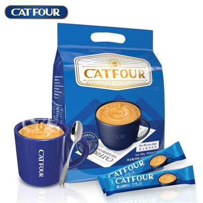 Catfour蓝山咖啡40条风味 特浓速溶咖啡粉卡布奇诺三合一学生提神