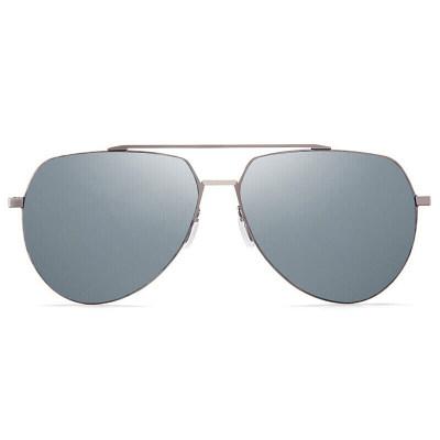 海伦凯勒太阳镜男款偏光司机驾驶镜炫彩蛤蟆镜时尚墨镜 深枪框白