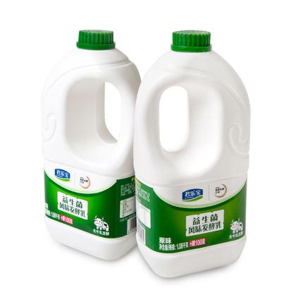 【耘凡兔568】君乐宝酸奶原味益生菌风味1180g*2桶 大桶酸奶装大瓶酸牛奶营养早餐奶
