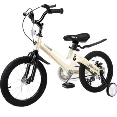 厂家直销12寸儿童自行车香槟金色镁合金一体车架2-4岁宝宝身高80-105cm