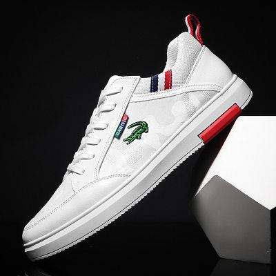2021年夏季新款冰丝休闲运动鞋鞋潮流小白鞋时尚男士板鞋