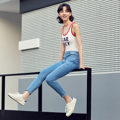 京东京造(J.ZAO)女士牛仔裤 休闲裤 提臀牛仔裤女