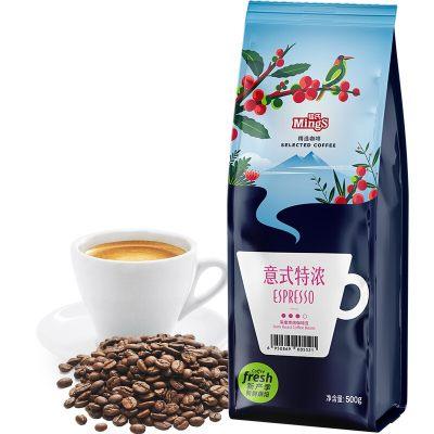铭氏Mings 意式特浓咖啡豆500g 精选系列 意大利拼配