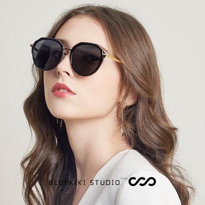 蓝其(Bluekiki) 偏光太阳镜女款墨镜时尚街拍大框防紫