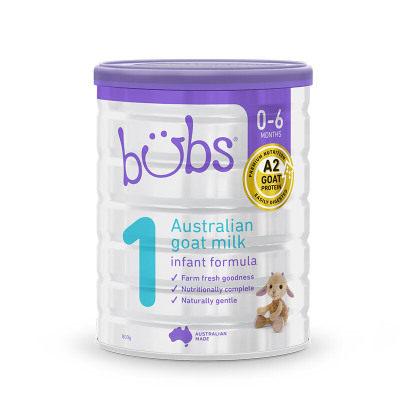 【耘凡兔013】澳洲bubs羊奶粉贝儿婴儿羊奶粉1段幼儿宝宝配方羊奶粉800g*2罐