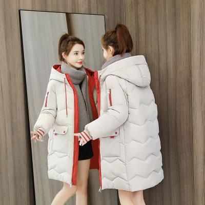 韩版棉衣 女式羽绒棉服 中长款 时尚宽松 2020秋冬新款