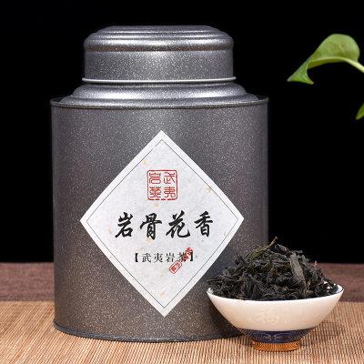 聚天禾大红袍岩骨花香罐装茶叶250g高山福建浓香型中火散装