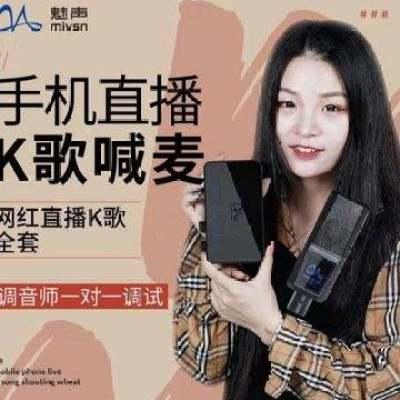 魅声T9-V3 网红声卡唱歌手机专用直播设备全套装快手喊麦变声神器【正品】